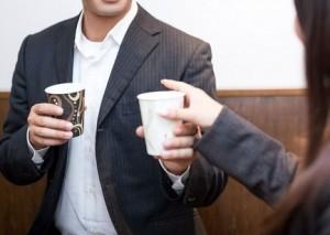 コーヒータイムのカップル