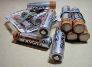 たくさんの乾電池