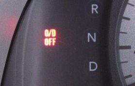 オーバードライブの表示