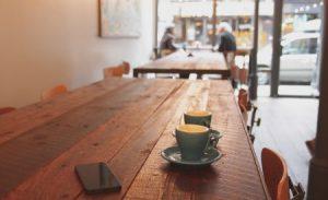 オシャレなカフェのコーヒー
