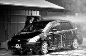 高圧洗浄の洗車