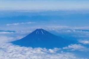 上からみた富士山