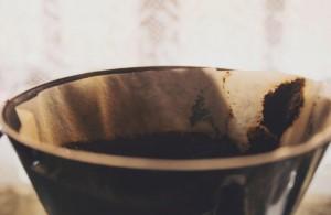 コーヒー豆の出し殻