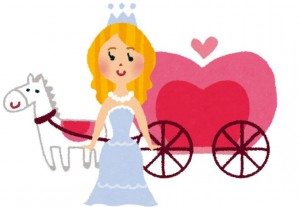 シンデレラと馬車のイラスト