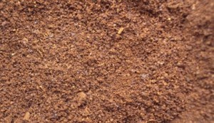 乾燥させたコーヒー豆の出し殻