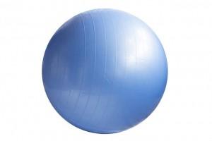 読書時の運動と相性の良い青いバランスボール