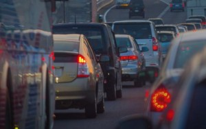 渋滞の道路