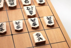 将棋の盤上