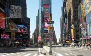 ニューヨークの液晶広告