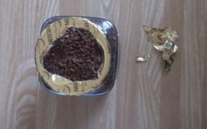 インスタントコーヒーの紙の破り方