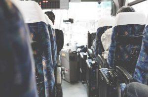 高速バスの車内の風景