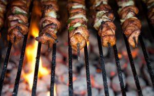 バーベキューの肉