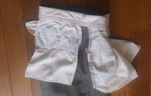 裏返したズボンのポケット