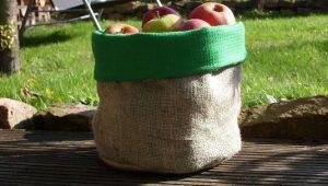 りんごを詰めたバッグ