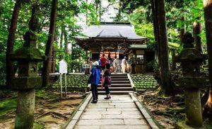 雰囲気の良い神社の境内