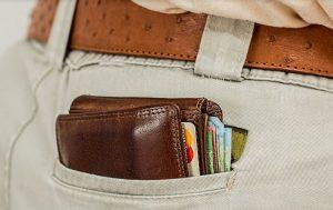 お尻のポケットの財布