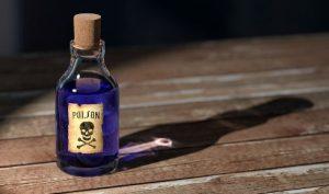 怪しい薬品の瓶