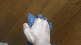 足と手の握手