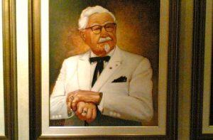 カーネルサンダースの肖像画