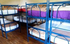 合宿所の二段ベッド