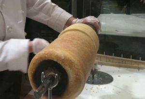 バームクーヘンの製造過程