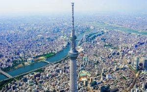 東京の街並みとスカイツリーが見える大パノラマ